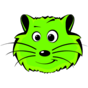 download Comic Hamster Face clipart image with 45 hue color