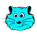 download Comic Hamster Face clipart image with 135 hue color