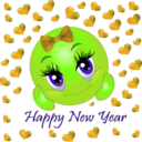download Happy New Year Smiley Emoticon clipart image with 45 hue color