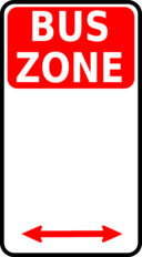 Sign Bus Zone