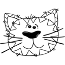 download Cat Line Art clipart image with 225 hue color