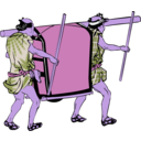 download Palanquin clipart image with 225 hue color