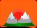 Sunset Mountain Simple