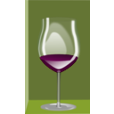 download Copa De Vino clipart image with 315 hue color