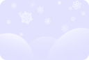 Soft Blue Snowflakes