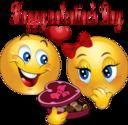 Happy Valentine Smiley Emoticon