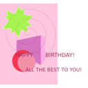 download Birthday Greetings clipart image with 45 hue color