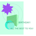 download Birthday Greetings clipart image with 225 hue color