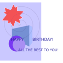 download Birthday Greetings clipart image with 315 hue color