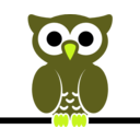 download Owl On Wire clipart image with 45 hue color