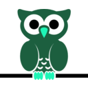 download Owl On Wire clipart image with 135 hue color