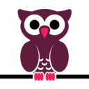 download Owl On Wire clipart image with 315 hue color