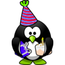 download Party Penguin clipart image with 45 hue color