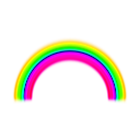 download Simple Rainbow With Blur clipart image with 45 hue color