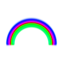 download Simple Rainbow With Blur clipart image with 225 hue color