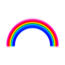 download Simple Rainbow With Blur clipart image with 315 hue color