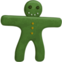 download Gingerbread Man clipart image with 45 hue color