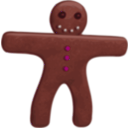 download Gingerbread Man clipart image with 315 hue color