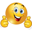 Two Thumbs Up Happy Smiley Emoticon