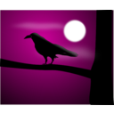 download Raven Illustration clipart image with 45 hue color