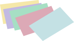 Stack Of Unlined Colored Index Cards