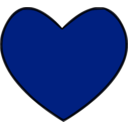 download Heart clipart image with 225 hue color