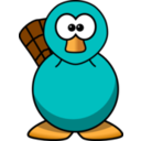 Cartoon Platypus Teal