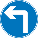 Roadsign Turn Ahead